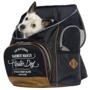 rucksack hipster dog black
