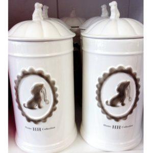 keramik aufbewahrungs dose jar white