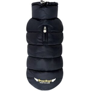 puppy angel padded vest schwarz