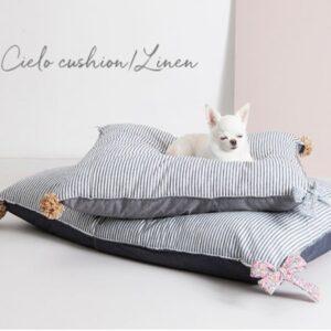 cielo cushion linen