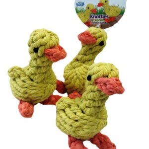 knotties duck dental cotton toy