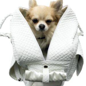 milano dog bag white von eh gia