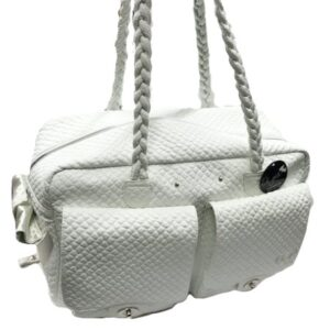 milano dog bag white von eh gia