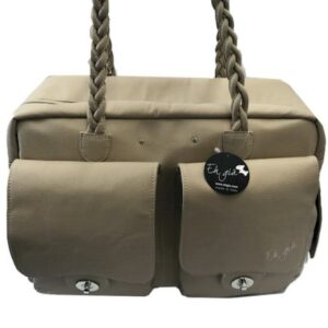 paris dog bag von eh gia beige