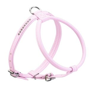 hunter leder geschirr pink
