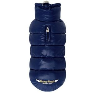 puppy angel love faux down vest navy