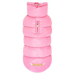 puppy angel love faux down vest pink