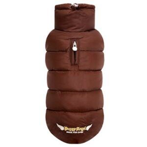puppy angel love faux padded vest choco