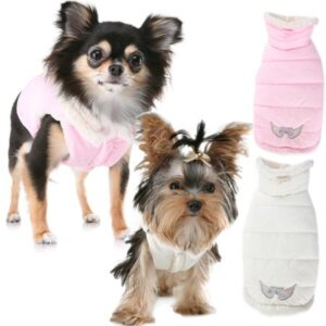 puppy angel milky padded vest