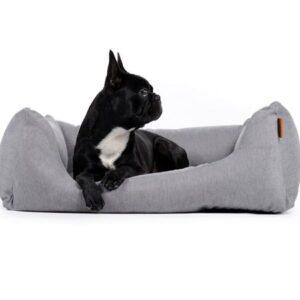 hundebett comfort silber