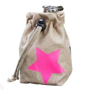 leckerlibeutel beige stern pink