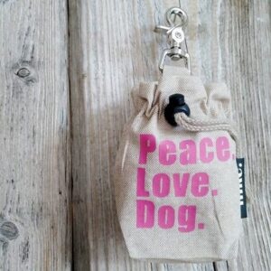 leckerlibeutel peace love dog