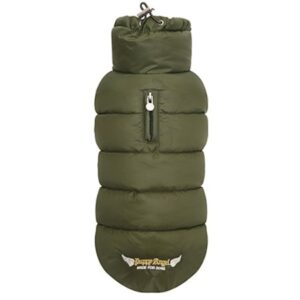 puppy angel padded vest olive