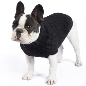 hundepullover cable sweater black