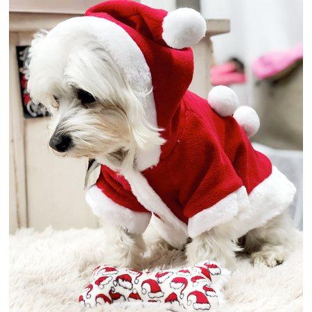 hunde weihnachtsmantel mit ponpon