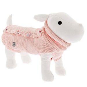 hundefleece strick pink