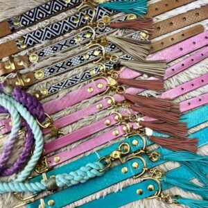 ibiza hundehalsband türkis und rosa