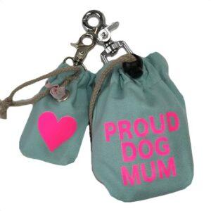 leckerlibeutel tuerkis proud dog mum pink