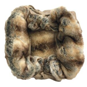 designer hundetasche bellagio beige with chinchilla
