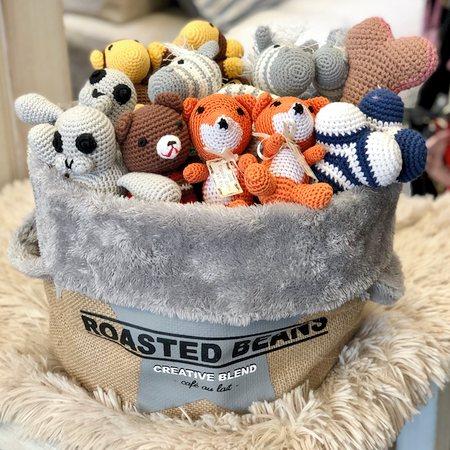 dog toy aufbewahrungsbox grey