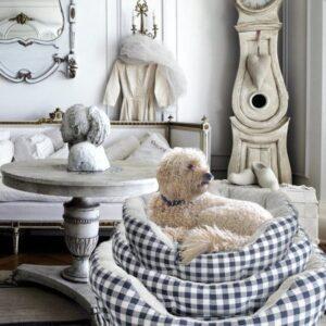 hundebagel fluffy grey