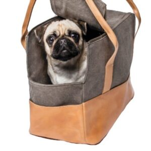 hundetasche canvas leder cloud7