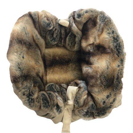 hundetasche bellagio beige with brown chinchilla