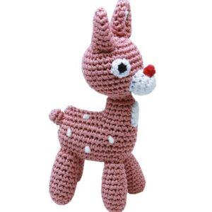 organic toy rudy reindeer von pet flys