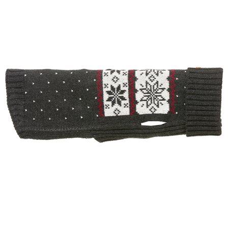 strickpullover aus wolle snowflake black