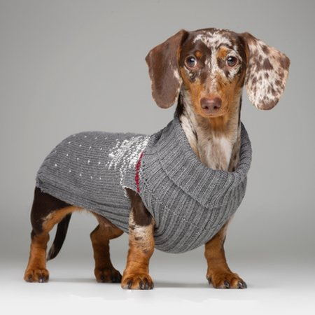 strickpullover aus wolle snowflake grey