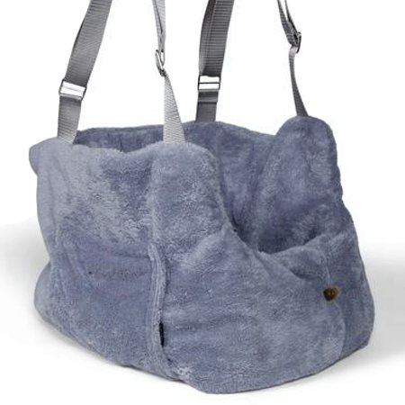 teddy bear bag grey