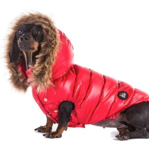 daunen veste luxury red von i love my dog