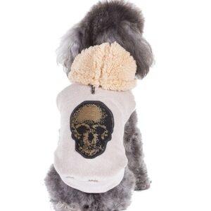 hunde hoodie skull champagne von i love my dog