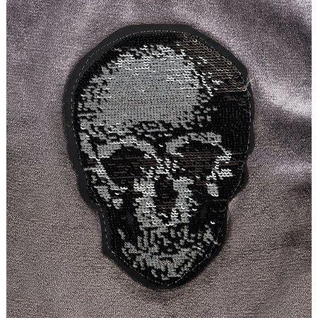 hunde hoodie skull smoked pearl grey von i love my dog