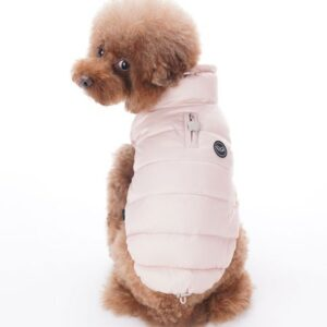 puppy angel padded vest pink