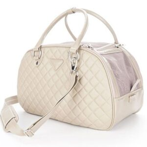 paris dog bag beige
