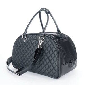 paris dog bag black