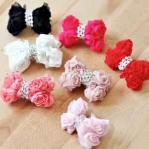 rose haarspange
