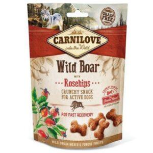 dog crunchy snack mit wildschwein und hagebutten