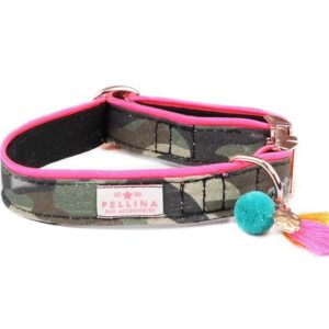 halsband city rebel olive pink
