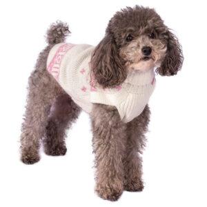hundepullover alpaca snowflake pink alqowasi